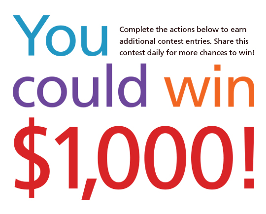 What would you do with $1,000? Enter to win!