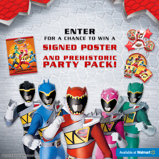 Power Rangers Dino Charge Birthday Party Pack Sweepstakes