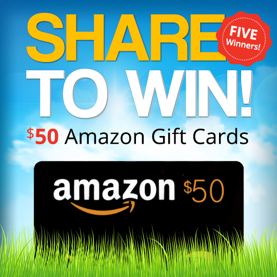 Enter to Win One of 5 $50 Amazon Gift Cards!