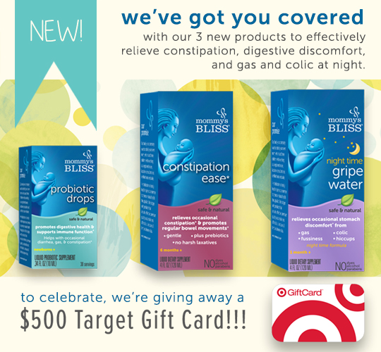 Win a $500 Target gift card from Mommy's Bliss!