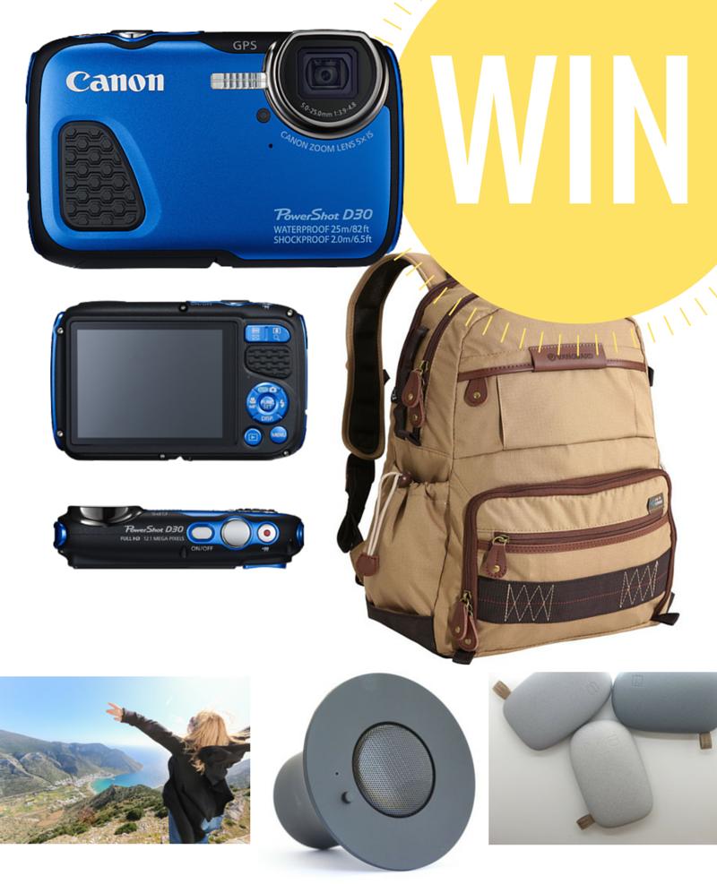 $891 In Prizes - Canon Digital Camera, Travel Insurance, Premium Backpack, Wireless Speaker, Power Bank & Travel Consultation!