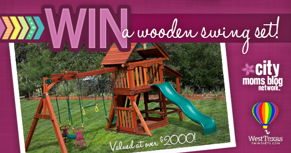 City Moms Blog Wooden Swing Set Giveaway